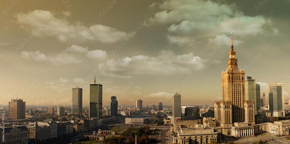 Fototapety, obrazy: Warsaw panorama