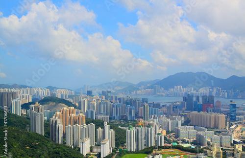 hong kong city at day Poster