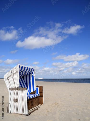 Spoed Foto op Canvas Noordzee Strandkorb