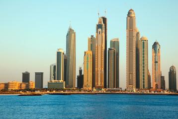 Fototapeta na wymiar Dubai Marina skyscrapers