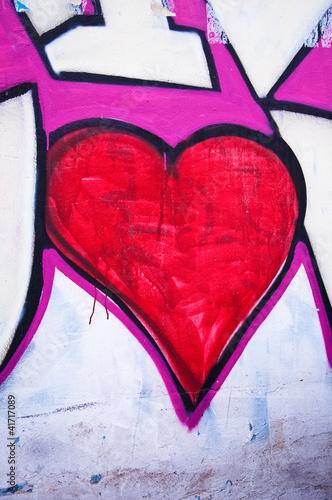Heart grafitti Poster