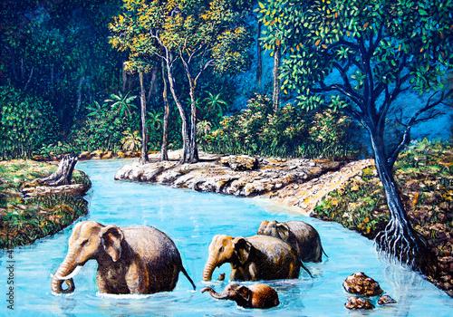 slon-przekraczania-rzeki