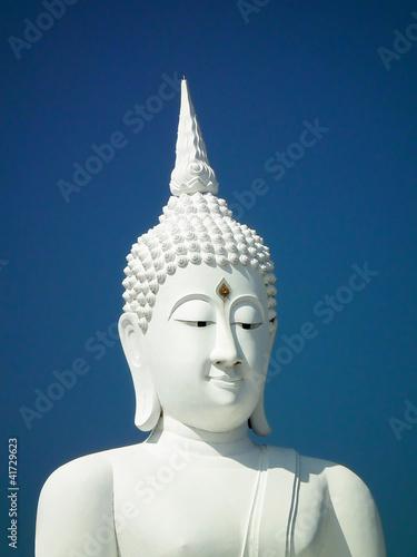 Recess Fitting Buddha white buddha in thailand.