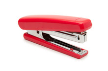 Red Stapler On A White Backgro...