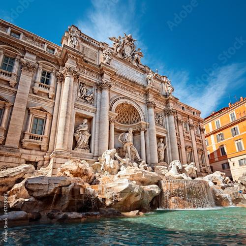 Poster Rome Trevi Fountain (Fontana di Trevi) in Rome - Italy