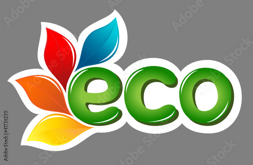 Plakaty ekologiczne eco-znak-z-lisci