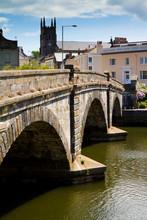 Totnes Bridge Over The River Dart In Devon, England