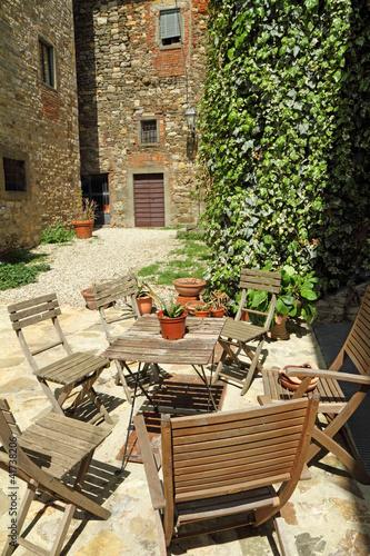 Tuscan Backyards tuscan backyard, italy, europe - buy this stock photo and explore