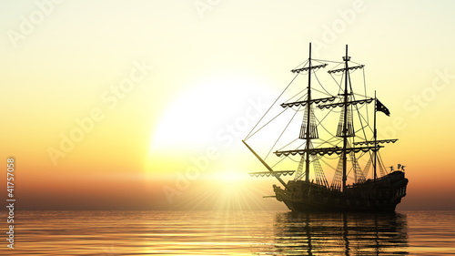 Tuinposter Schip 帆船