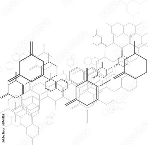 Obraz na plátně molecular BG