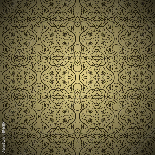 Fotografie, Obraz  Seamless arabic ornament background