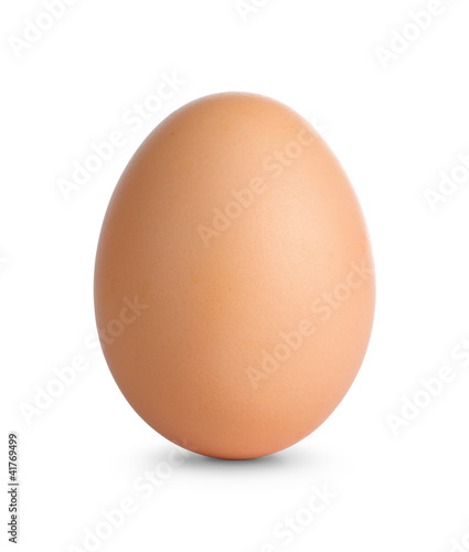 Close up of an egg isolated on white with clipping path Fotobehang