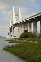 Sydney Lanier Bridge In Brunswick Georgia