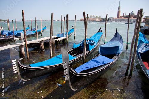 Spoed Foto op Canvas Gondolas gondole a Venezia