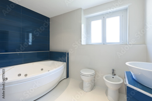 Interior Of Bathroom In Modern House Hot Tub Buy This Stock Photo Adorable Bathroom With Hot Tub Interior