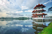 Floating Pagodas At The Singapore Chinese Garden