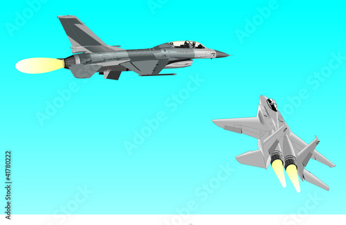 Poster Militaire Airplane
