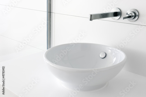 Fotomural Luxury trendy washbasin and faucet