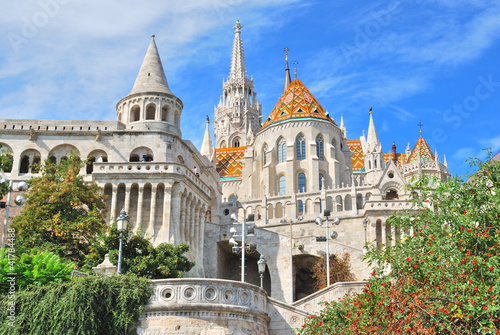 Photo  Budapest. Fisherman's Bastion and  St. Matthias church