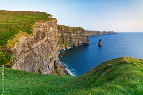 Cliffs of Moher at dusk in Co. Clare, Ireland