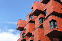 Modern Building Of Unusual Shape In Vienna, Austria