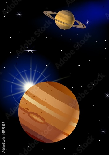 Garden Poster Cosmos Planet Background