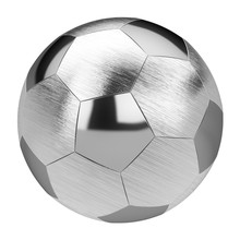Metal Soccer Ball Isolated On ...