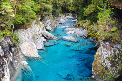 Canvas Prints New Zealand Blue Pools in Haast Highway, New Zealand