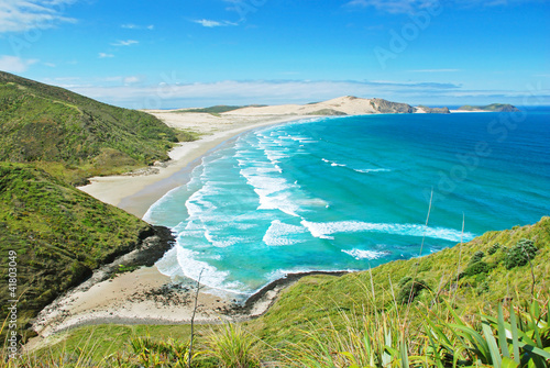 Beach at Cape Reigna, New Zealand