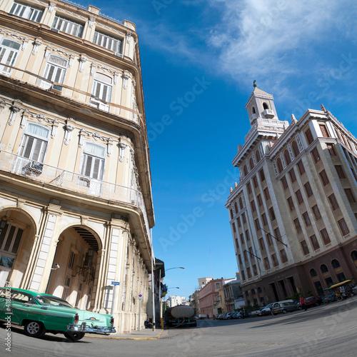 Deurstickers Cubaanse oldtimers La Havane, Cuba