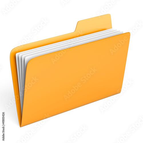 Fotografía  Yellow folder