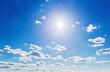 canvas print picture - Wolken vor blauem Himmel