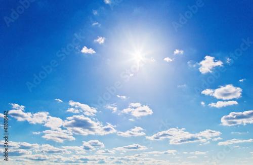 Fotografie, Obraz  Wolken vor blauem Himmel