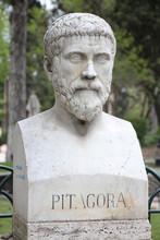 Pythagoras Bust Sculpture In V...