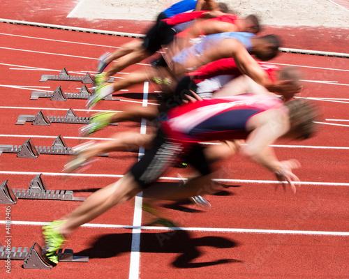Foto-Schmutzfangmatte - Sprintstart in Bewegungsunschärfe (von Stefan Schurr)