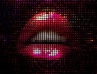 Panel Szklany Erotyka Sexy Discoteque Fashion Illustration