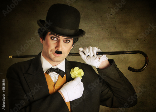 Fotografie, Obraz  Charly Chaplin