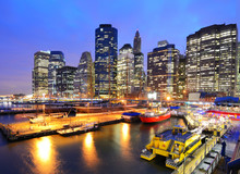 South Street Seaport In Lower Manhattan At Night