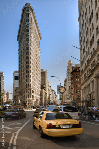Staande foto New York TAXI Flatiron District in New York City