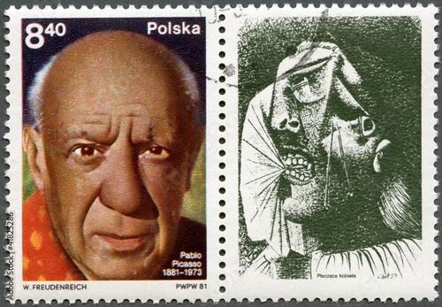 Cuadros en Lienzo  POLONIA - 1981: muestra Pablo Picasso (1881-1973), artista