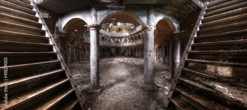 Fotografie, Obraz  Old theater panorama hdr