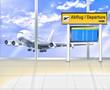 Am Gate im Flughafen