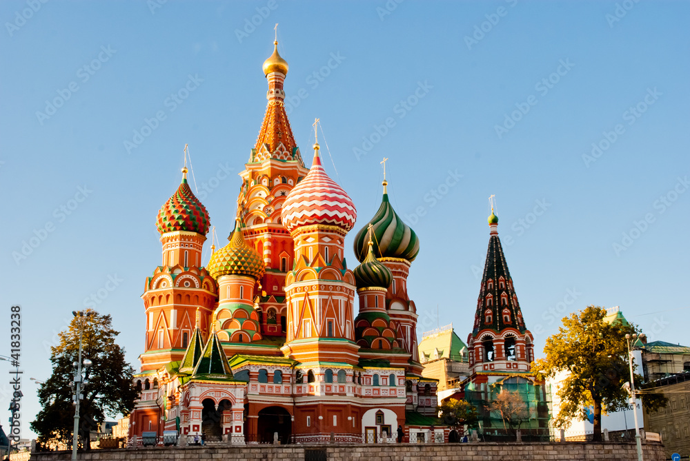 Fototapety, obrazy: St. Basil's Cathedral, Red Square, Moscow