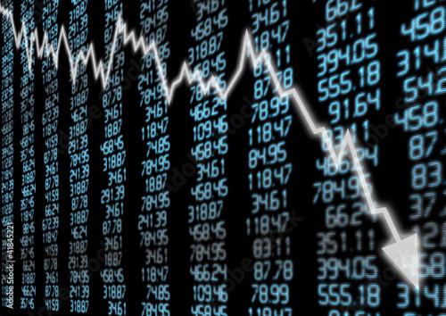 Fotografía  Stock Market Down
