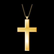 Christian Cross Gold Pendant, ...