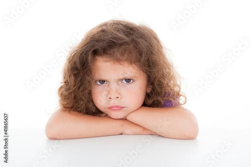 Fotografia sulky angry child