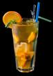 ice tea with citrus and grenadine