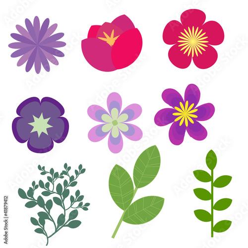 Decorative Floral Elements Vector Set Kaufen Sie Diese