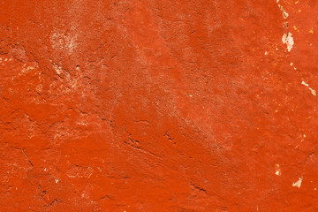 Fototapeta Dark orange vintage plaster concrete wall wallpaper