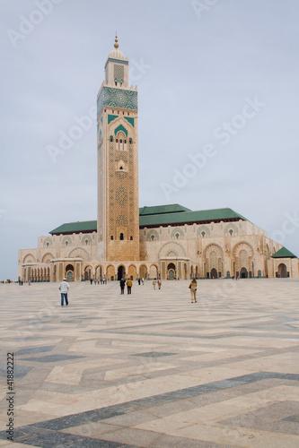 Spoed Foto op Canvas Marokko Hassan II Mosque in Casablanca